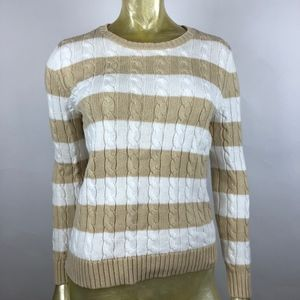 Talbots Chunky Cable Knit Sweater